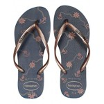 Havaianas Slim Nautical Flip-Flops Navy Blue/Rose Gold
