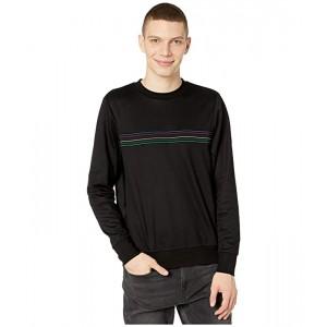Clashort Sleeveic Striped Sweatshirt