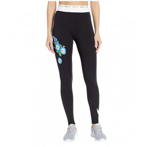 NSW Leggings Graphic Hyper Femme Black/White