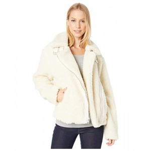 Sherpa Moto with Buckle Collar Detail