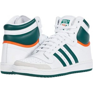 adidas Top Ten Hi Footwear White/Collegiate Green/Orange