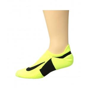 Elite Cushion No-Show Tab Running Socks Volt/Black/Black