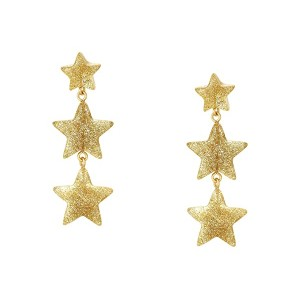 Puffy Star Drop Resin Earrings