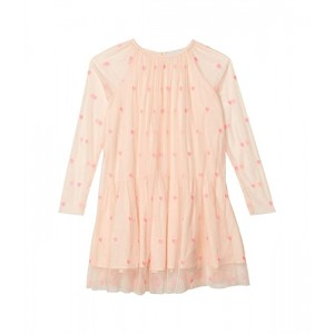 Stella McCartney Kids Long Sleeve Hearts Tulle Dress (Toddleru002FLittle Kidsu002FBig Kids) Pink