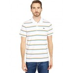 Short Sleeve Horizontal Stripe Polo