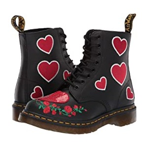 1460 Pascal Hearts Core Applique Black/DMS Red