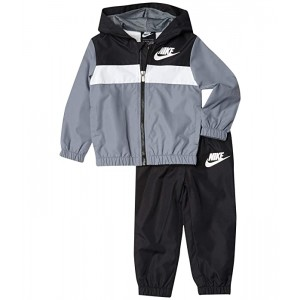 Nike Kids Wind Jacket and Pants Two-Piece Set (Toddler) Black