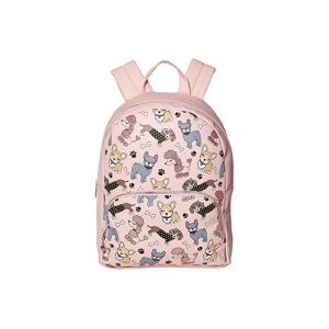 Mixed Animal Print Large Backpack Pink