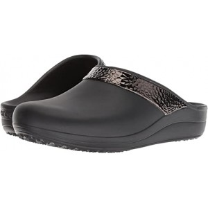 Crocs Sloane Hammered Metallic Clog Black/Black