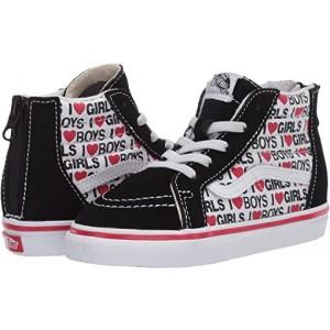 Vans Kids Sk8-Hi Zip (Infantu002FToddler) I Heart Black/True White