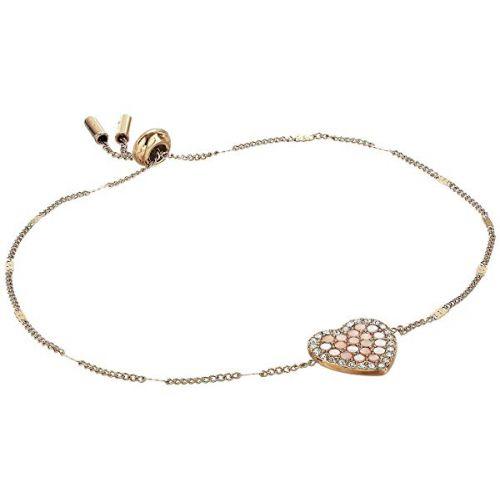 파슬 Pave Heart Slider Chain Bracelet