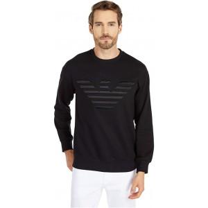 Emporio Armani Logo Crew Neck Sweatshirt Black