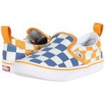 Vans Kids ComfyCush Slip-On V (Infantu002FToddler) Big Checker True Blue/Cadmium Yellow