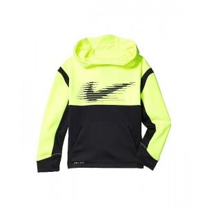 Nike Kids Therma-FIT Fleece Color-Block Pullover Hoodie (Toddleru002FLittle Kids) Volt