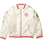 Satin Bomber with Flower Embroidery (Toddler/Little Kids/Big Kids)
