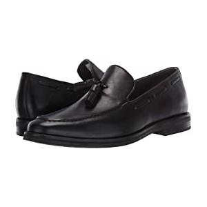 Gold Exeter Tassel Loafer Black Leather