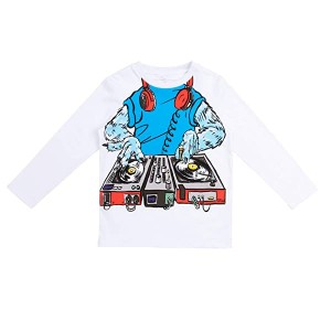 Long Sleeve Tee with Monster DJ (Toddler/Little Kids/Big Kids)