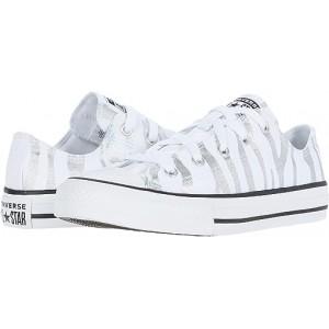 Converse Kids Chuck Taylor All Star Zebra Foil - Ox (Little Kidu002FBig Kid) White/Black/White