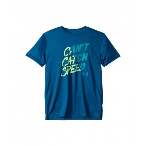 Cant Catch Speed Short Sleeve (Big Kids) Teal Vibe/Teal Rush