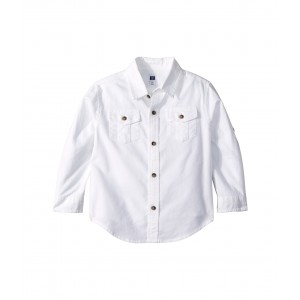 Oxford Roll Up Top (Toddler/Little Kids/Big Kids) White