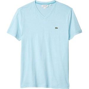 Lacoste V-Neck Stripe T-Shirt Cicer/White