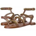 Haddie Multi Chains Gladiator Flat Sandal Saddle Leather