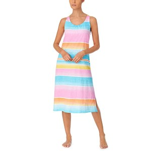 Slub Jersey Knit Sleeveless Twisted Back Ballet Gown with Soft Bra