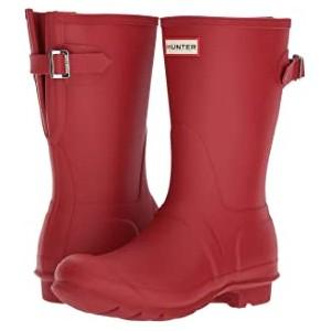 Original Short Back Adjustable Rain Boots Military Red