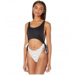 Summer Delight One-Piece Bright White Pool Stripes