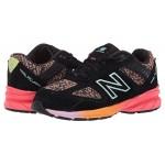 New Balance Kids 990v5 (Infantu002FToddler) Black/Tahitian Pink