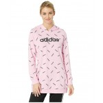 All Over Print Hoodie True Pink/Black