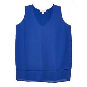 Plus Size Sleeveless Combo Woven Top