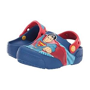 CrocsFunLab Superman Lights Clog (Toddler/Little Kid) Blue Jean