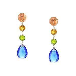 Multi Crystal Linear Earrings