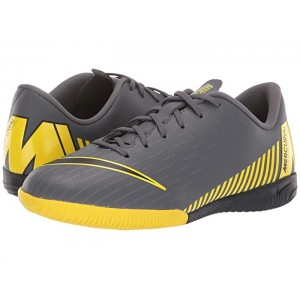 VaporX 12 Academy Indoor Competition Soccer(Little Kid/Big Kid) Dark Grey/Black/Opti Yellow