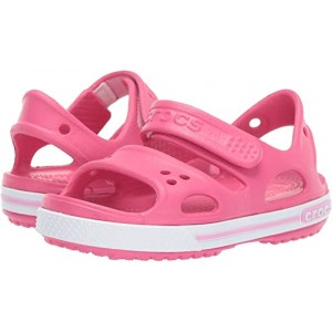 Crocs Kids Crocband II Sandal (Toddleru002FLittle Kid) Paradise Pink/Carnation
