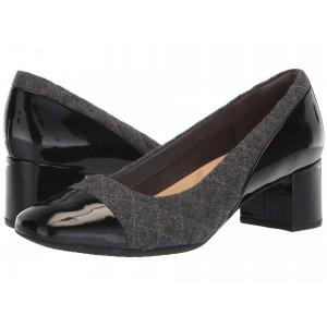 Tealia Sera Grey Flannel/Black Patent