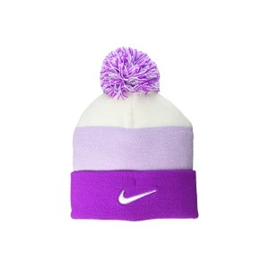 Nike Kids Beanie Seasonal Pom (Little Kidsu002FBig Kids) Vivid Purple/Sail