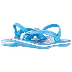 Crocband Shark Strap Flip (Toddler/Little Kid) Prep Blue