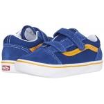 Vans Kids ComfyCush Old Skool V (Infantu002FToddler) Pop True Blue/Cadmium Yellow