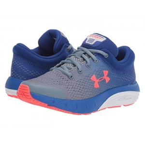 UA GS Bandit 5 (Big Kid) Ash Gray/Royal/Beta Red