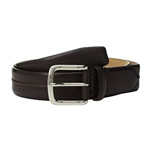 35 mm Leather Belt with Trapunto Detail
