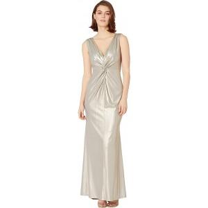 Metallic Gown Khaki
