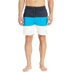 Tricolor Swim Shorts Classic Navy