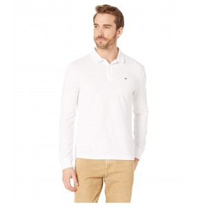 Essential Long Sleeve Polo Classic White