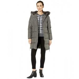 Horizontal Heavy Down w/ Flap Pockets Puffer Coat