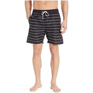 Pinstripe Swim Shorts Black