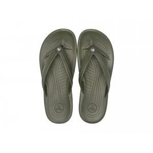 Crocband Flip Army Green/White