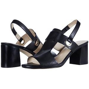 Cole Haan Adele Sandal (65 mm) Black Leather/Black Semi Shine Stack