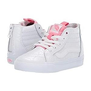 Sk8-Hi Zip (Toddler) (White Giraffe) True White/Strawberry Pink